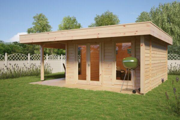 Gartenhaus Hansa Lounge XL 14,5m² / 6 x 5 m / 44mm