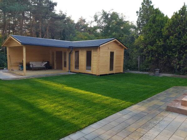 Gartenhaus Hansa Corner Deluxe B 22m² 70mm 7 x 3 m