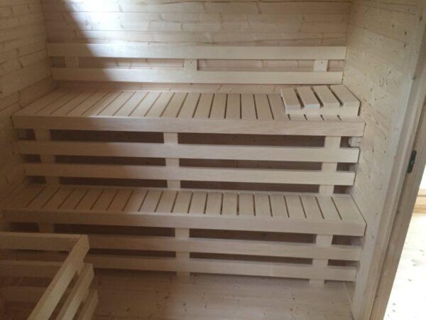 Garden sauna cabin Paula 12,5m² / 7,5 x 3,2 m / 40mm