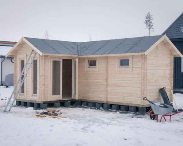 Sauna Cabin Oliver III 16m² / 70mm