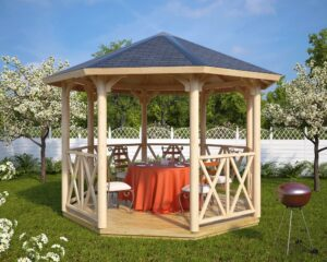 Wooden gazebo Lotte L 9m² / 3,6 x 3,6 m