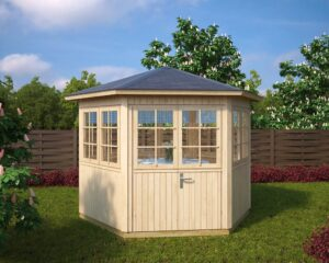 Hexagonal summer house Festival S 6m² / 3 x 3m / 21mm