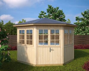 Octagonal summer house Festival L 9,5m² / 3,6 x 3,6m / 21mm