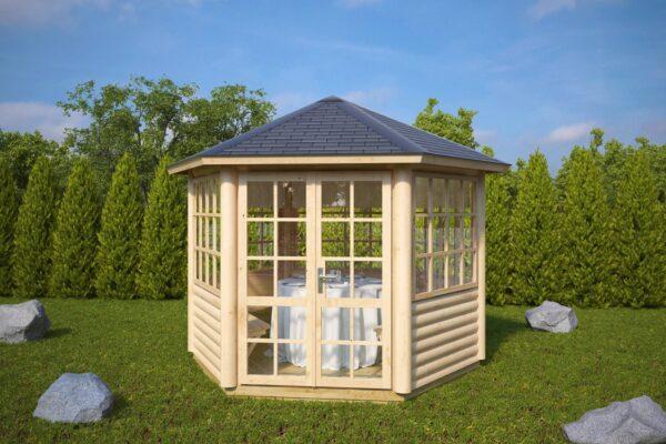 Hexagonal summer house Seattle S 6m² / 3 x 3m / 55mm