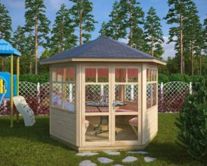 Hexagonal summer house Paradise S 6m² / 3 x 3 m / 42mm