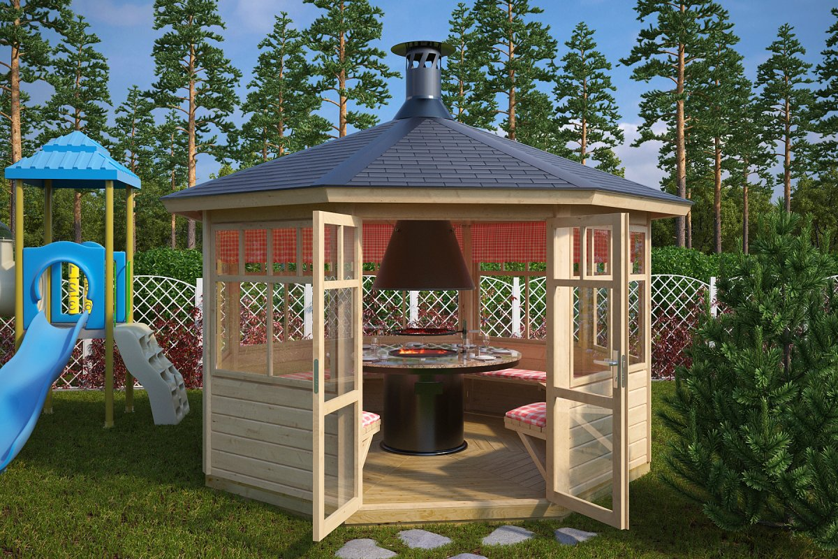 8-Eck Grillpavillon Paradise L