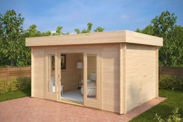 Summer house Jacob E 12m² / 3,2 x 4,4 m / 44mm