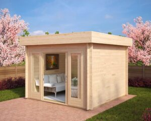 Summer house Lucas E 8,5m² / 3,2 x 3,2 m / 44mm
