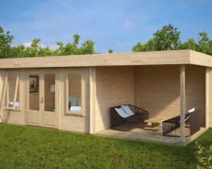 Summer House Jacob D with Veranda 12m² / 44mm / 7 x 3 m