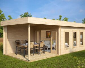 Summer House Jacob E with Veranda 12m² / 44mm / 7 x 3 m
