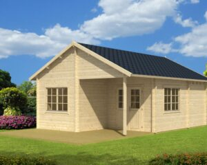 Log cabin Copenhagen 31m² / 5,4 x 7,4 m / 50mm