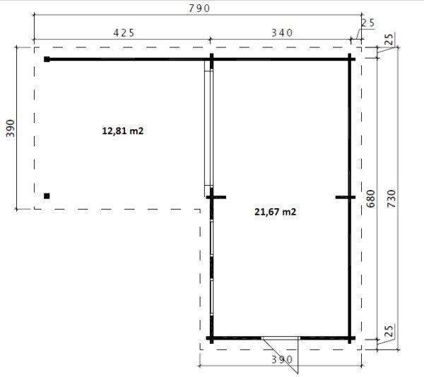 Hansa Corner Room Deluxe A 22m² / 70mm / 7 x 3 m