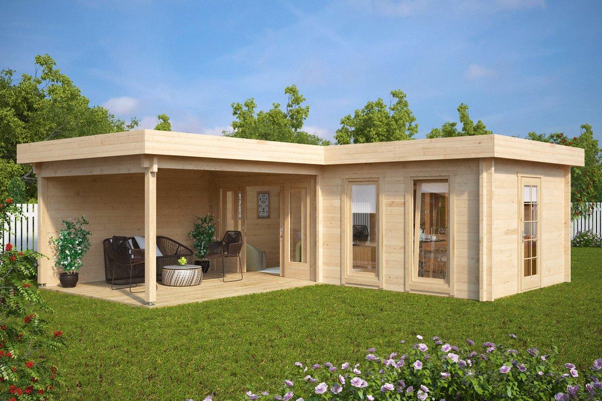gartenhaus hansa corner deluxe a 22m 70mm 7 x 3 m hansa gartenhaus. Black Bedroom Furniture Sets. Home Design Ideas