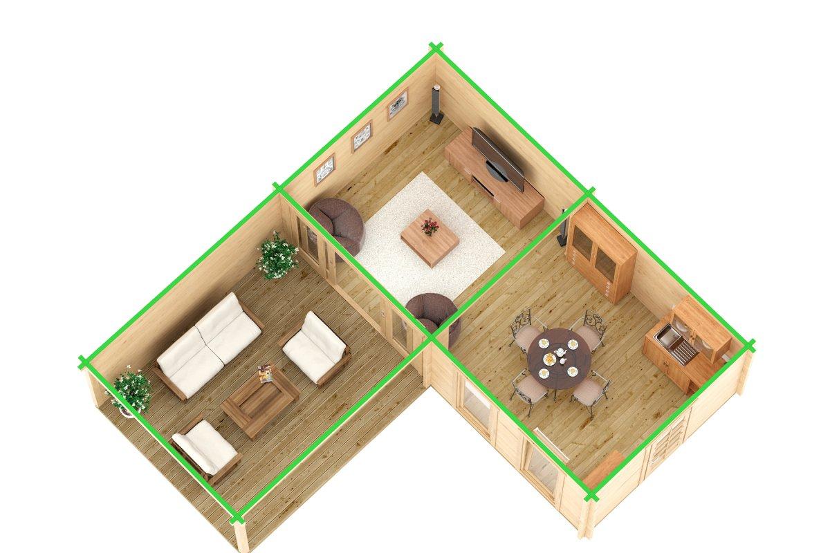Hansa Corner Room Deluxe B 22m² / 70mm / 7 x 3 m