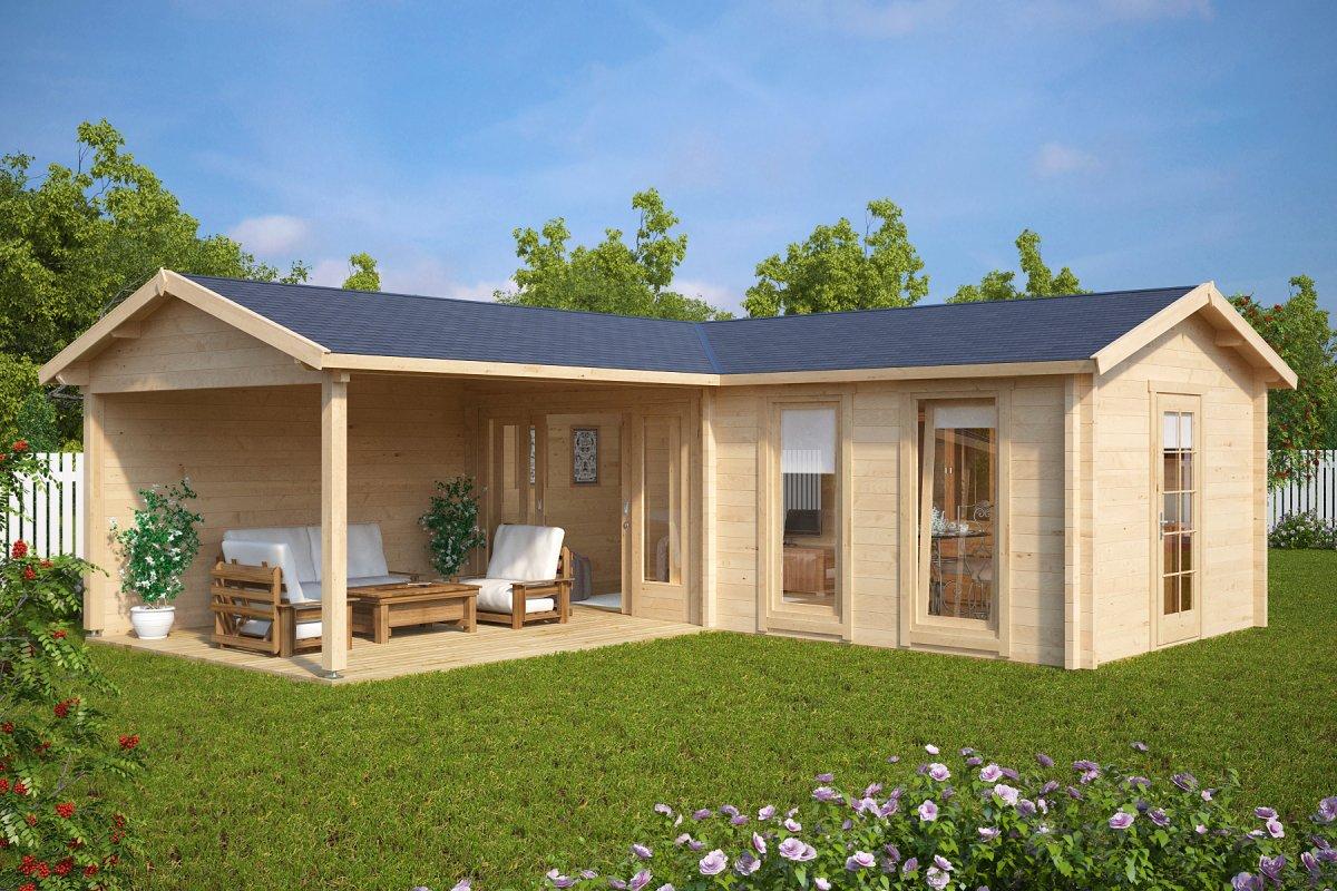 gartenhaus hansa corner deluxe b 22m 70mm 7 x 3 m hansa gartenhaus. Black Bedroom Furniture Sets. Home Design Ideas