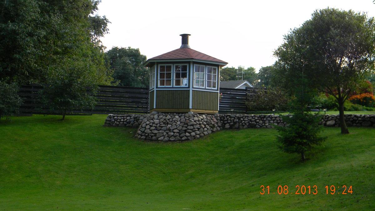 Hexagonal BBQ hut Festival S 6m² / 3 x 3m / 21mm