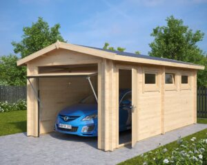 Garage Hansa A with Up and Over Doors / 3 x 5,5 m / 44mm