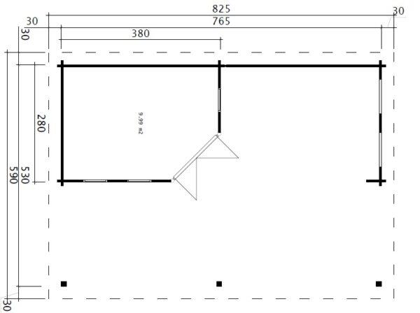 Garden Paradise B 10m2 / 50mm / 8 x 6 m