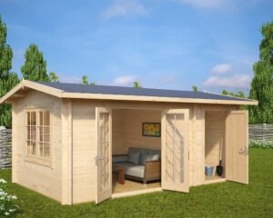 Summer House with Shed Super Fred 15m² / 44mm / 5 x 3 m