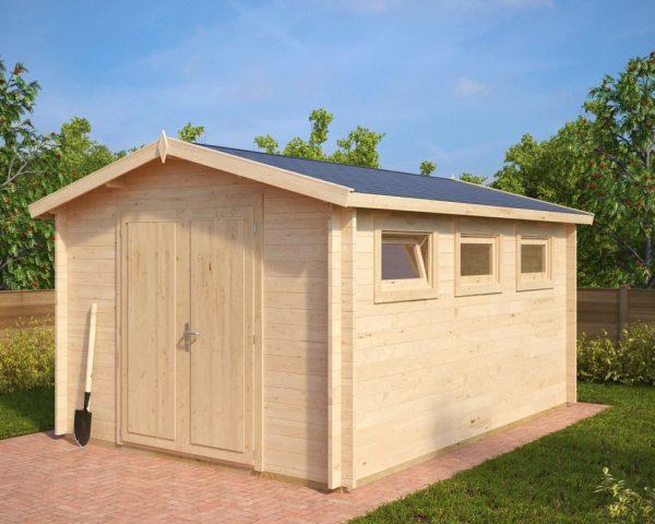Garden shed Eva F 12m² / 3,2 x 4,4 m / 40mm