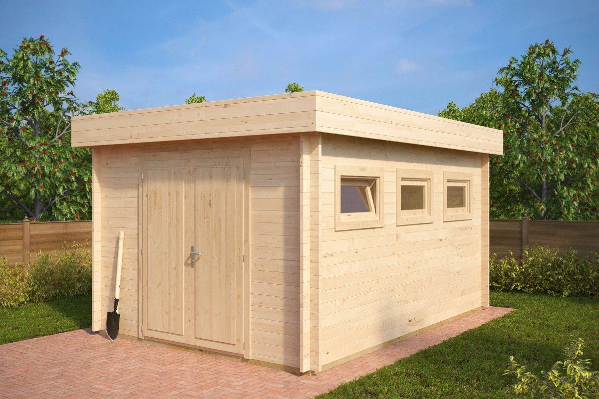 Garden shed Jacob F 12m² / 3,2 x 4,4 m / 40mm