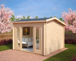 Summer house Nora E 8,5m² / 3,2 x 3,2 m / 44mm