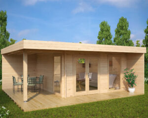 Summer house Hansa Lounge XL 14,5m² / 6 x 5 m / 44mm