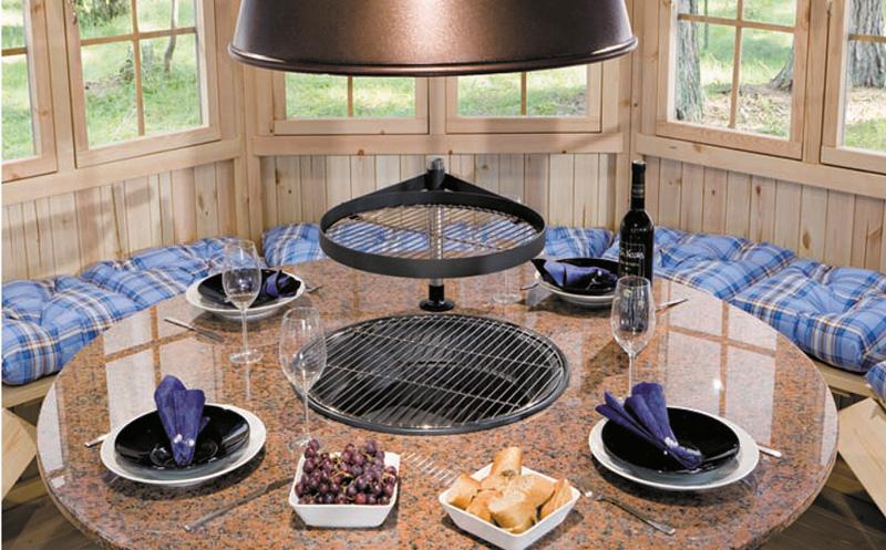 Wooden grill gazebo Lotte S 6m² / 3 x 3 m