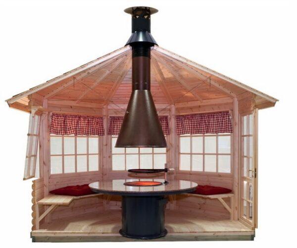 Wooden grill gazebo Lotte L 9m² / 3,6 x 3,6 m