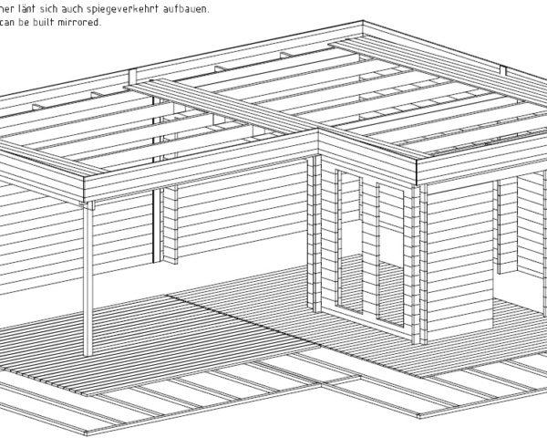 Hansa Corner Room A 18m² / 44mm / 6 x 3 m