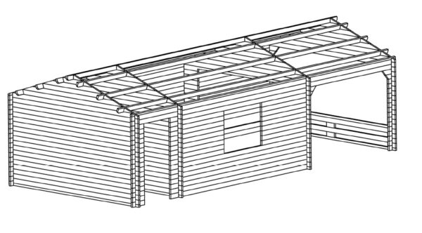 Gartenhaus Heinz 3D