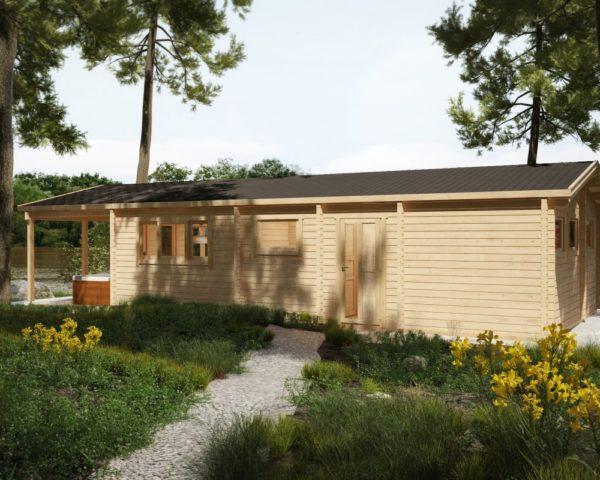 Log cabin Hansa Holiday A 58m² / 13 x 6 m / 92mm