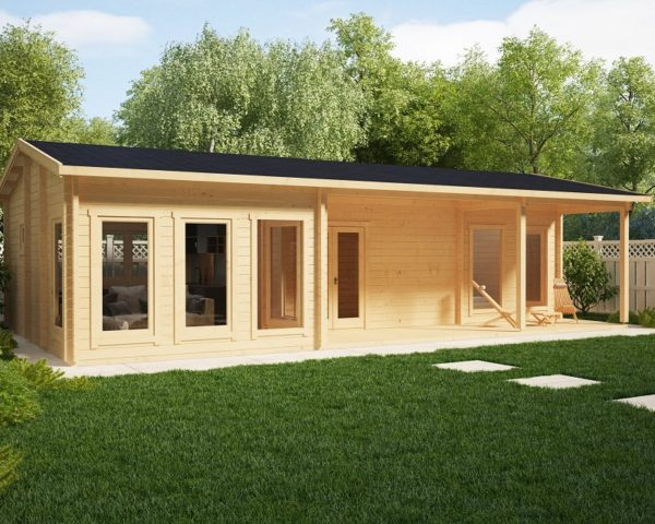 Residential Log Cabin Holiday C 50m2 / 6 x 11m / 70mm
