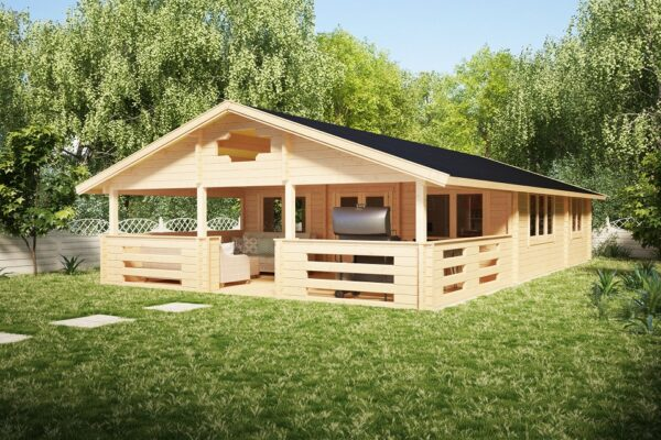 Residential Log Cabin Holiday F 50m2 / 7 x 12 m / 70mm