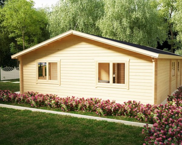 Three Bedroom Residential Cabin Holiday G 100m2 / 14 x 7m / 70mm