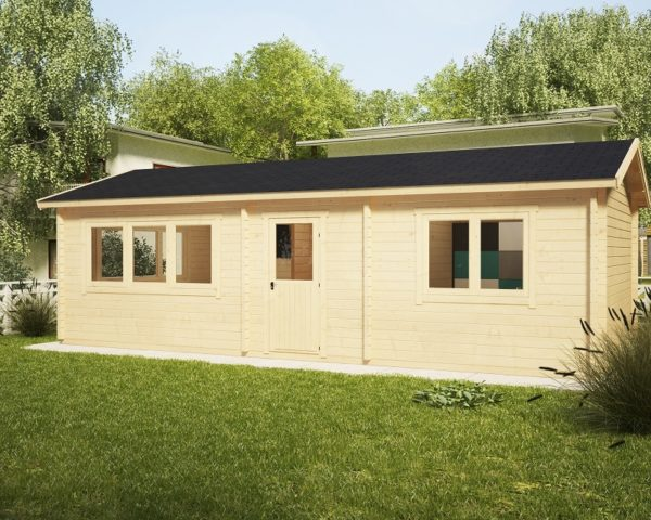 One Bedroom Cabin Holiday H 38m2 / 4,5 x 9 m / 70mm