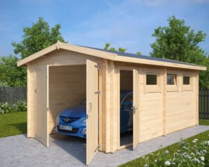 Garage Hansa A with Double Doors / 3 x 5,5 m / 44mm