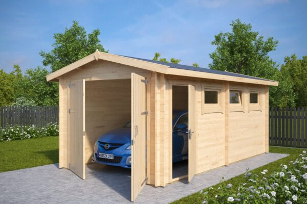 Garage Hansa A with Double Doors / 3 x 5,5 m / 44mm
