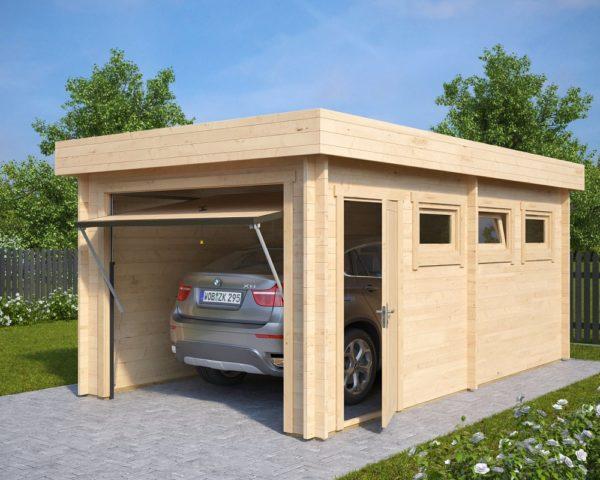 Garage Hansa C mit Schwingtor