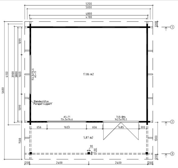 Summer house Ian C 18m² / 5 x 4,1 m / 50mm