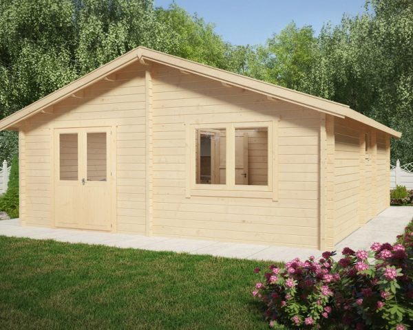 Two Bedroom Residential Cabin Ireland 42m2 / 6 x 7m / 70mm