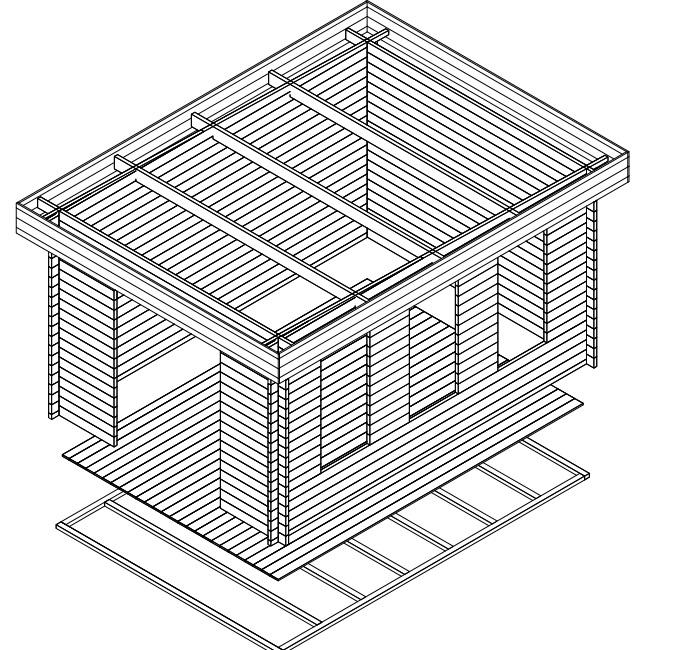 gartenhaus jacob b 12m 3 2 x 4 4 m 40mm hansa gartenhaus. Black Bedroom Furniture Sets. Home Design Ideas