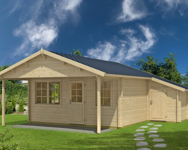 Log cabin Jan 24,5m² / 6,5 x 5 m / 50mm