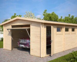 Garage Hansa B with Up and Over Door / 4,5 x 5,5 m / 44mm