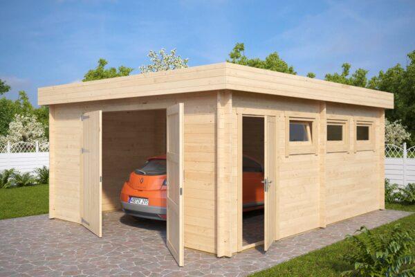 Garage Hansa D mit Doppeltür