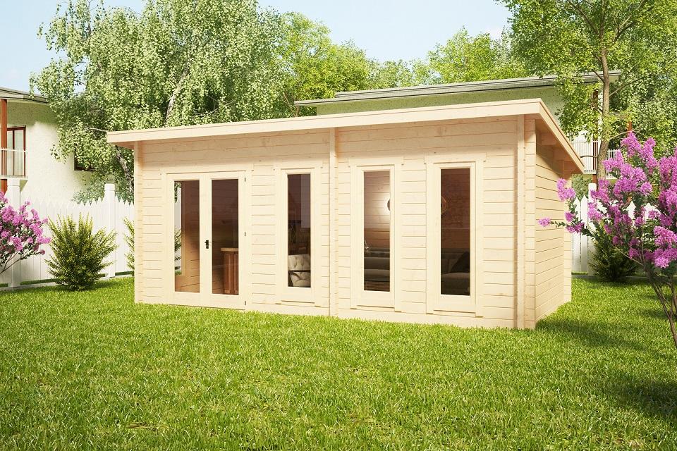 gartenhaus liam 16m2 3 x 6 m 44mm hansa gartenhaus. Black Bedroom Furniture Sets. Home Design Ideas