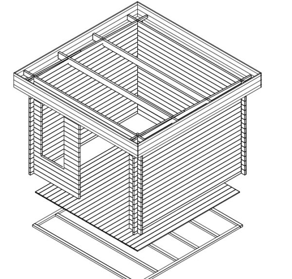 Summer house Lucas D 8,5m² / 3,2 x 3,2 m / 40mm