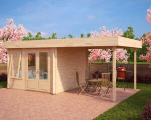 Garden Room Lucas D with Canopy 9m² / 44mm / 3 x 3 m