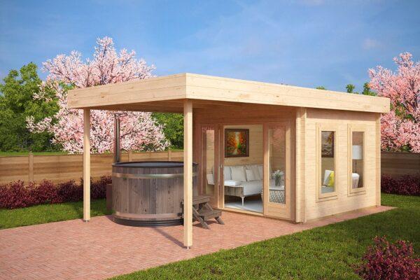 Gartenhaus mit Sonnendach Lucas E