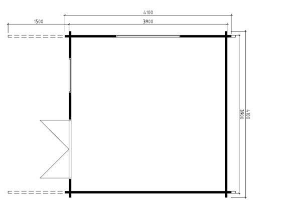 Summer house Marcus B 14,5m² / 4,1 x 4,1 m / 50mm
